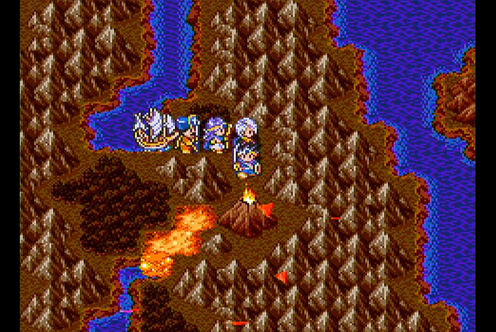ガイアの剣で火山が噴火