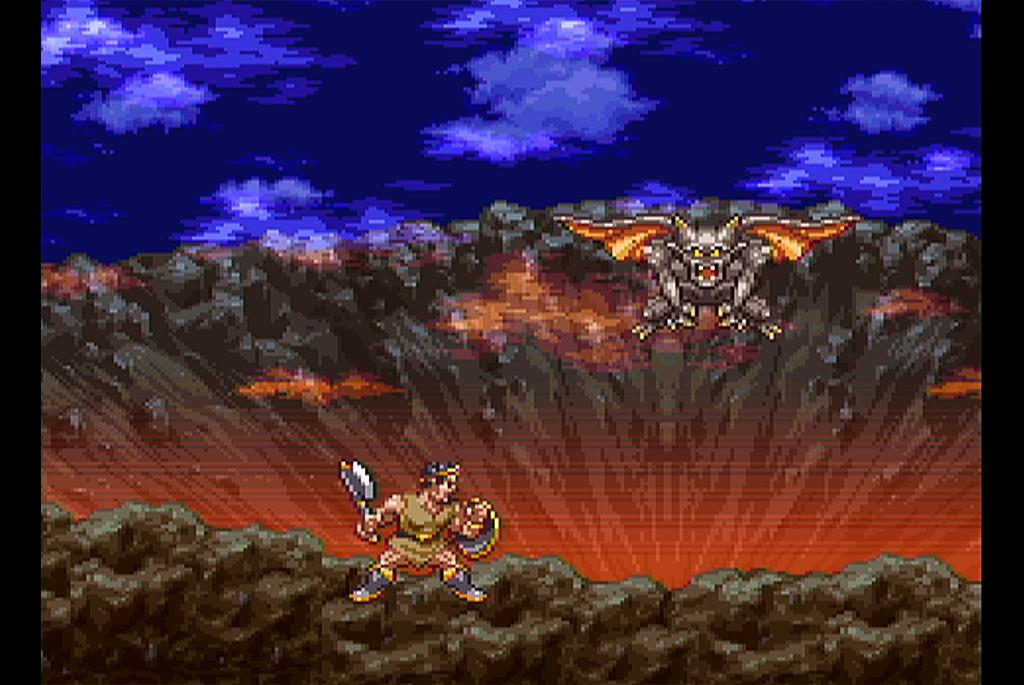 火口で魔物と戦うオルテガだが…