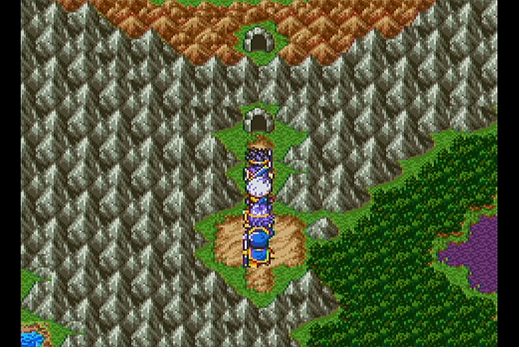 ネクロゴンドの山脈を麓から頂上まで貫く洞窟