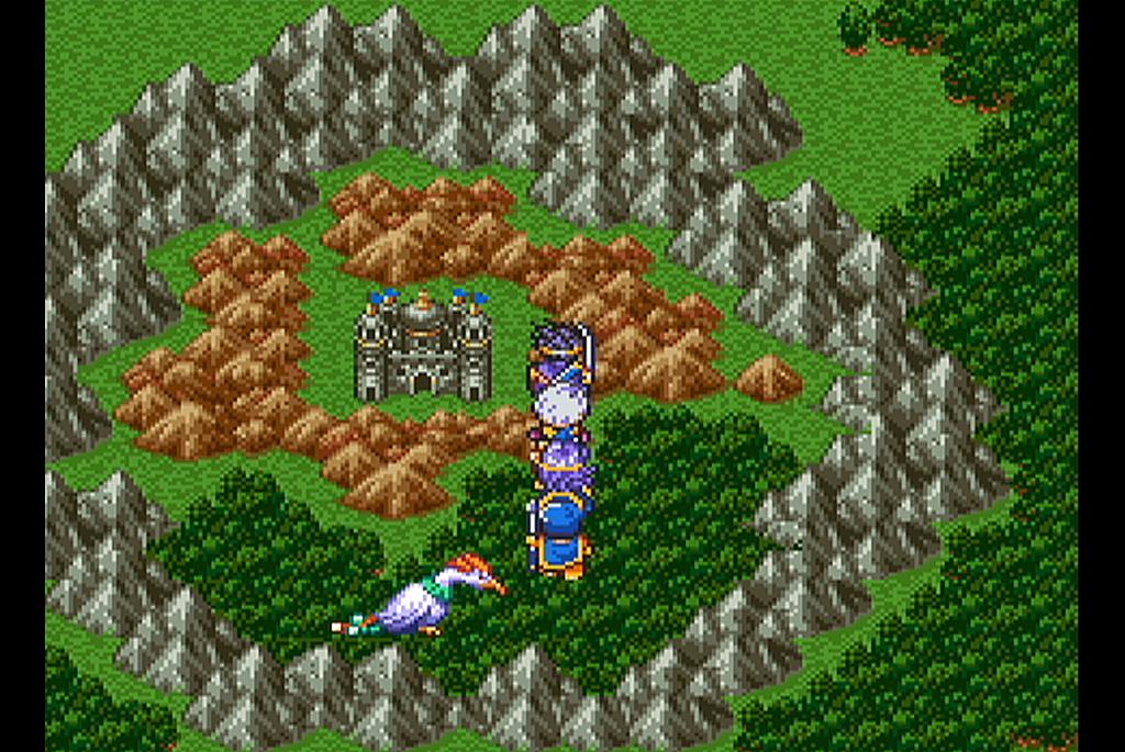 岩山に囲まれた竜の女王の城
