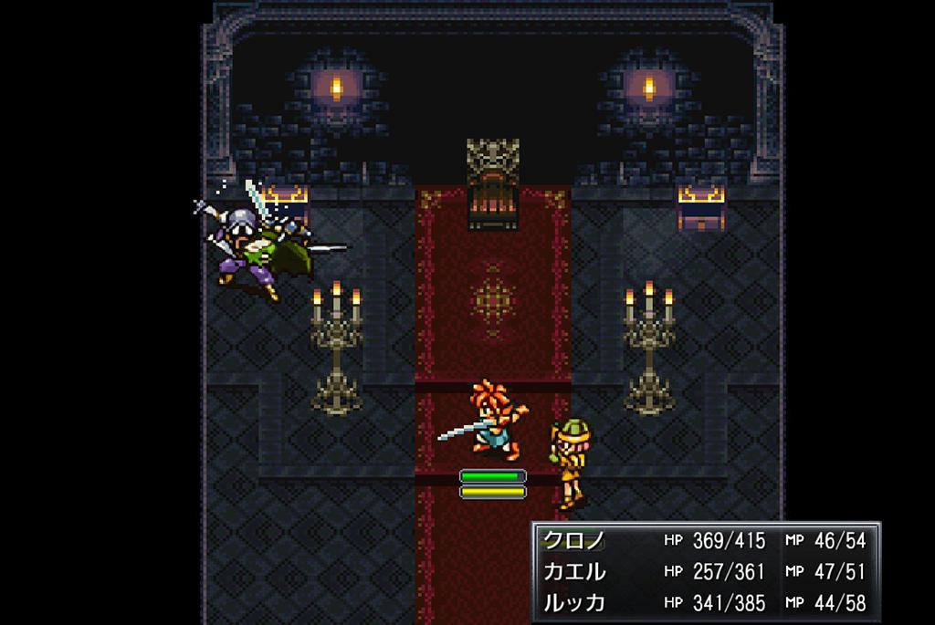 本気モードのソイソー・剣を圧倒するカエル