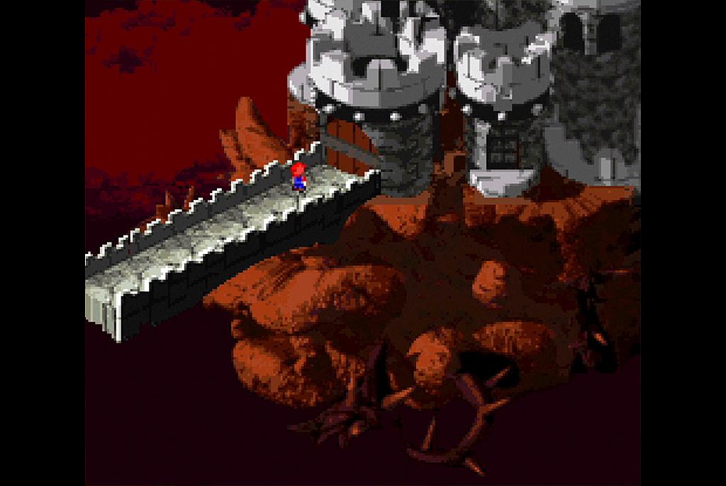 クッパ城に乗り込むマリオ