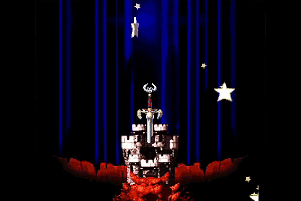 謎の剣がクッパ城に突き刺さってしまう