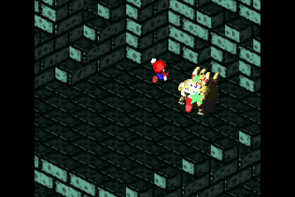 マリオはスーパージャンプで攻撃