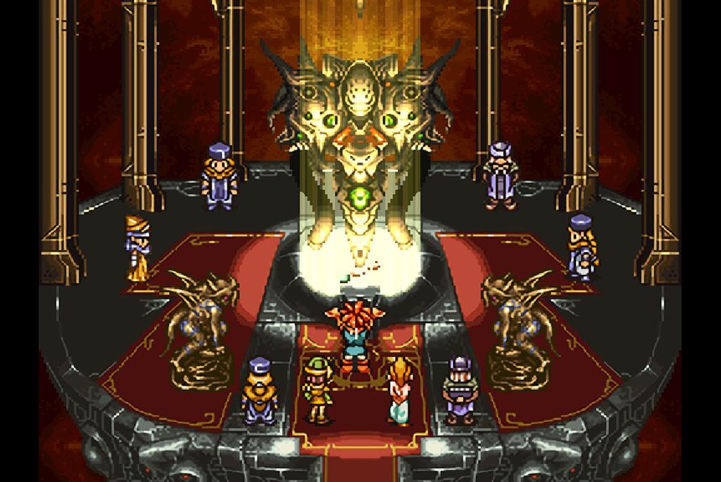 魔神器でマールのペンダントにパワーを注ぐ