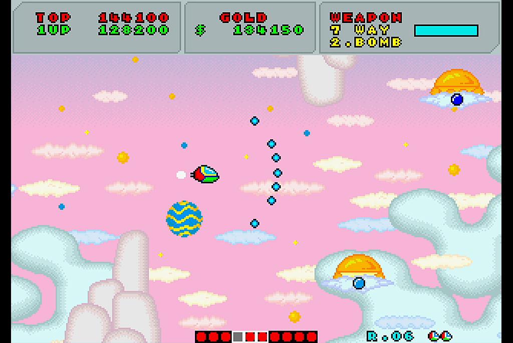 ファンタジーゾーン プレイ日記02「炸裂!7ウェイショット」